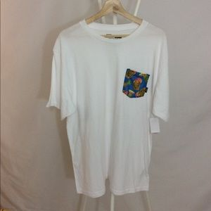 NWT Drained and Confused Pineapple Pocket T-shirt